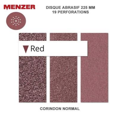 Disque abrasif  225 mm-19 trous-Red - 10 ou 25 pièces