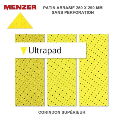 Abrasif triangulaire 250 x 290 mm Ultrapad 2 ou 10 pièces