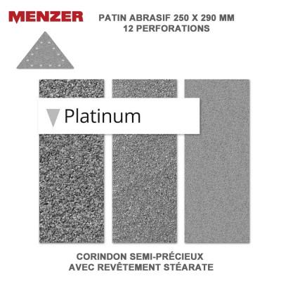 Abrasif triangulaire 250 x 290 mm-12 Trous-Platinium 5 ou 25 pièces
