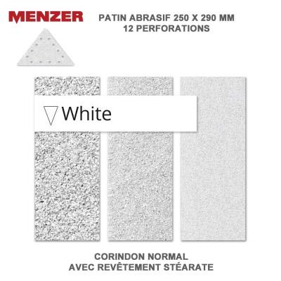 Abrasif  triangulaire 250 x 290 mm-12 Trous-White 5 ou 25 pièces