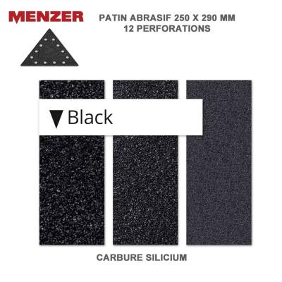 Abrasif triangumaire 250 x 290 mm-12 Trous-Black 2 ou 10 pièces