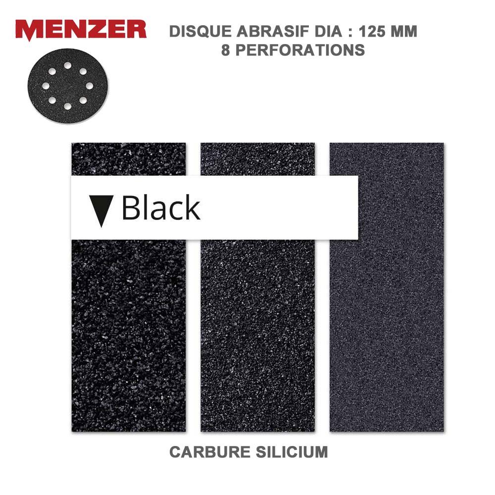 disque abrasif 125 mm 8 trous black 25 ou 50 pi ces. Black Bedroom Furniture Sets. Home Design Ideas