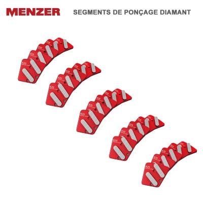 Segments de ponçage diamant moyen pour ESM 406 - 5 pces