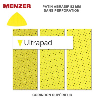 Disque abrasif 82 x 82 mm Ultrapad 25 pièces