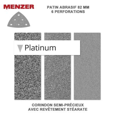 Patin abrasif  82 x 82 mm-6 Trous Platinium 50 pièces