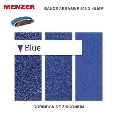 Bande abrasif 303 x 40 mm Blue 10 pièces