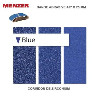 Bande abrasif 457 x 75 mm Blue 10 pièces