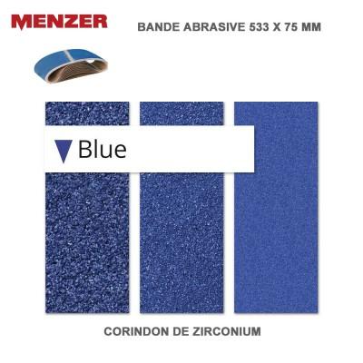 Bande abrasif 533 x 75 mm Blue 10 pièces