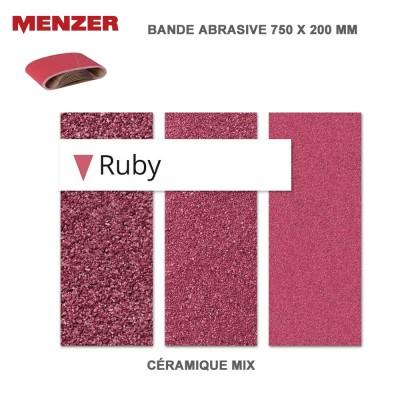 Bande abrasif 750 X 200 mm- Ruby HD 5 ou 10 pièces