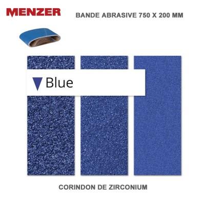 Bande abrasif 750 x 200 mm Blue 10 pièces