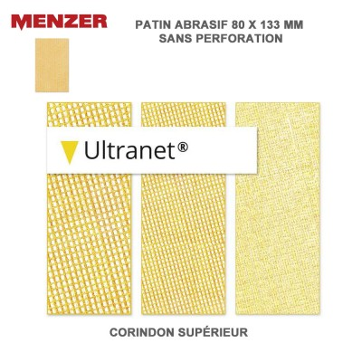 Patin abrasif 80 x 133 mm Ultranet 25 pièces