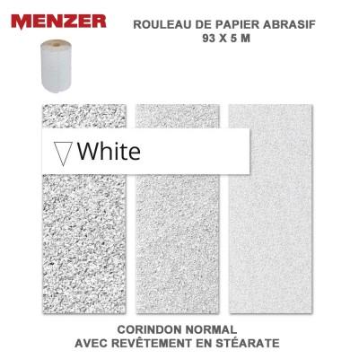 Rouleau papier abrasif 93 mm x 5 m White