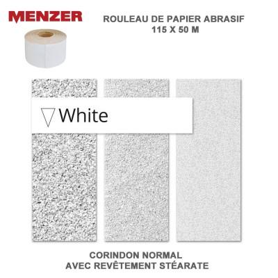 Rouleau papier abrasif 115 mm x 50 m White