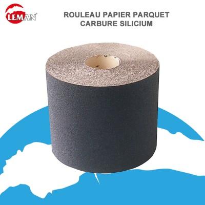 Rouleau papier carbure silicium pour parquet - 50 m