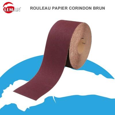 Rouleau papier abrasif corindon brun - 120 x 25 m