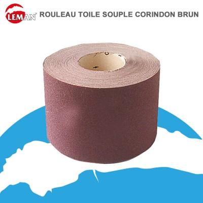Rouleau toile souple corindon brun - 25 m