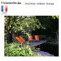 Fauteuil Taboo orange