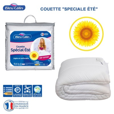 Couette de lit - Spéciale été coton - 200 g/m²