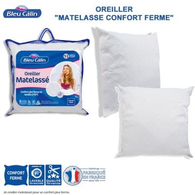 Oreiller matelassé confort ferme - 60 x 60 cm