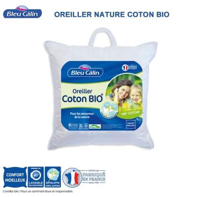 Oreiller nature coton Bio - 550 g - 60 x 60 cm