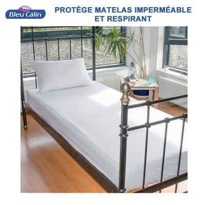 Protège-matelas éponge imperméable/respirant - Eugénie - 190 g/m²