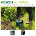 Bordure en polyéthylène recyclé vert - H 15 cm x 10 m