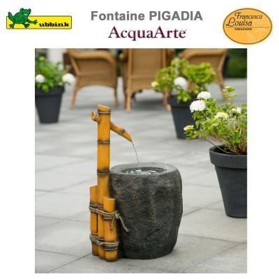 Fontaine de jardin polyrésine complète Pigadia