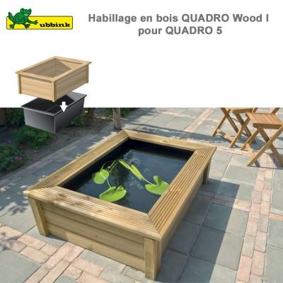 Bassin préfabriqué de jardin Quadro Wood 1