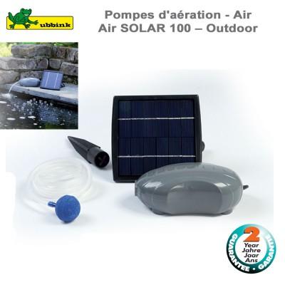 Pompe solaire d'aération bassin aquatique AirSolar 100
