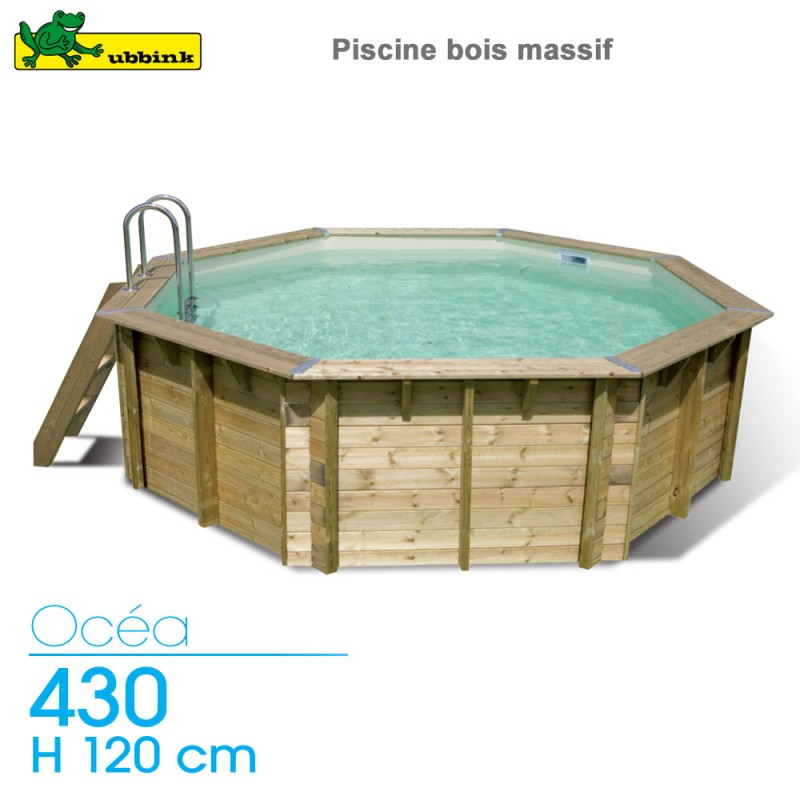Piscine Bois Ocea 430 H 120 Cm Liner Beige