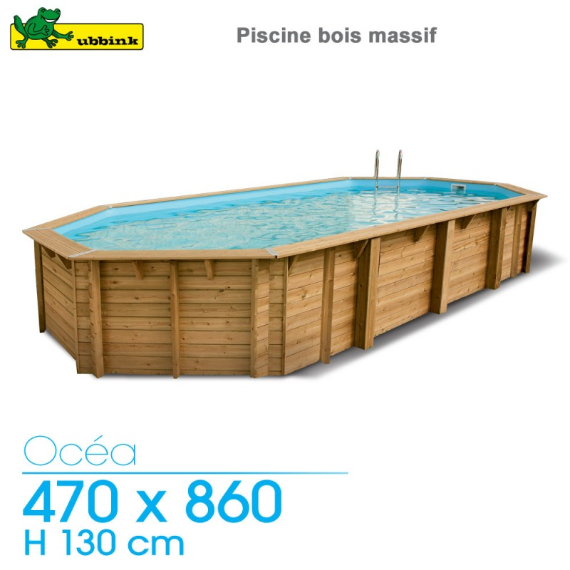 Piscine Bois Ocea 470 X 860 H 130 Cm Liner Beige