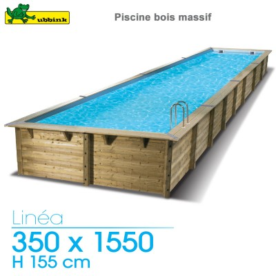 piscine bois linea 350 x 1550 h 155 cm liner beige. Black Bedroom Furniture Sets. Home Design Ideas