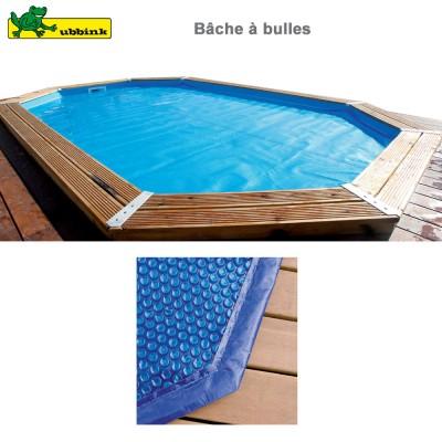 Bâche à bulles bordée pour piscine