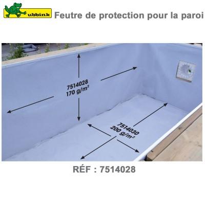 Feutre de protection piscine pour la paroi