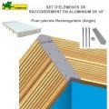 Kit 4 pièces finition Alu angle 45° pour margelles de piscine rectangulaire