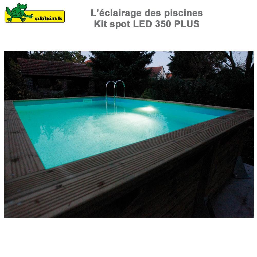 kit spot 350 led plus pour piscine. Black Bedroom Furniture Sets. Home Design Ideas