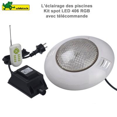 Kit spot pour piscine 406 RGB LED télecommande