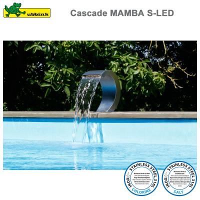 Cascade pour piscine Mamba S-LED inox 316