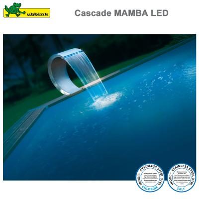 Cascade pour piscine Mamba LED inox 316