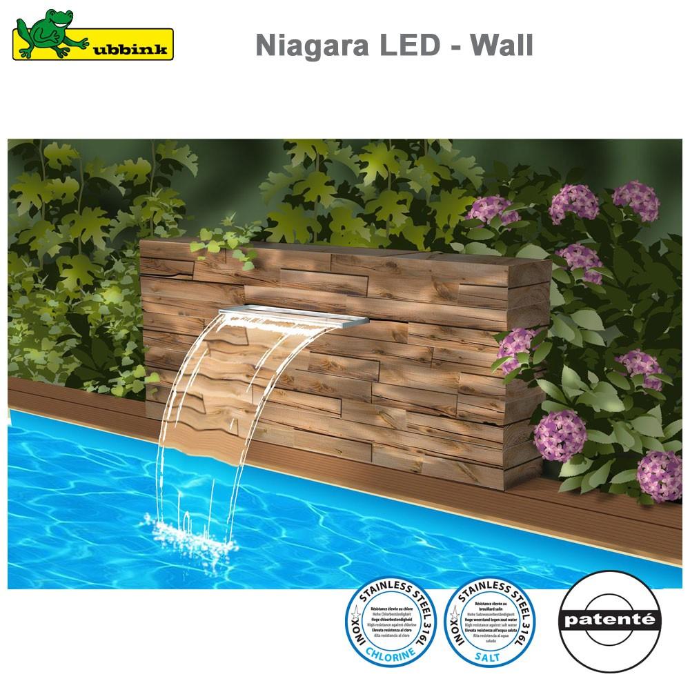 Cascade pour piscine niagara 30 led acrylic - Cascade pour piscine ...