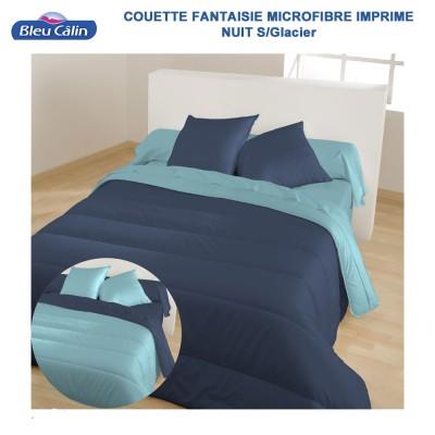 Couette Microfibre bicolore Nuit-Glacier