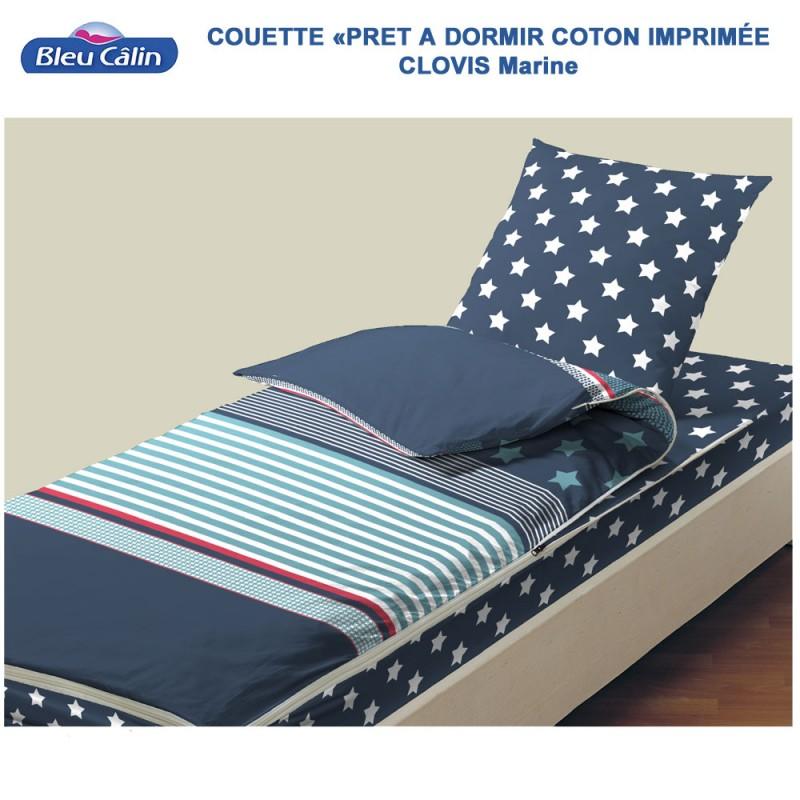Couette de lit coton - Caradou 1 Pers. Clovis-Marine