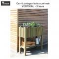 Carré potager bois Vertikal 3 surélevé - 3 bacs