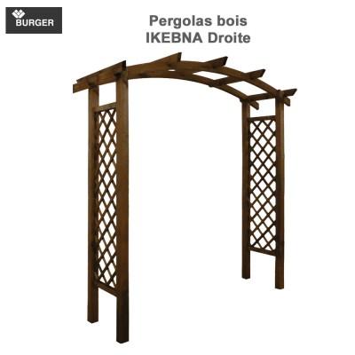 Pergola en bois double arc Akebia