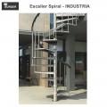 Escalier hélicoïdal spiral Industria - 11 marches