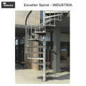 Escalier hélicoïdal spiral Industria - 13 marches