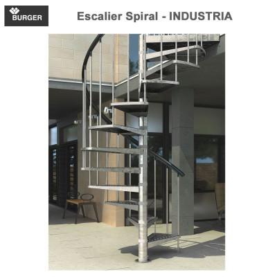 Escalier hélicoïdal spiral Industria - 16 marches