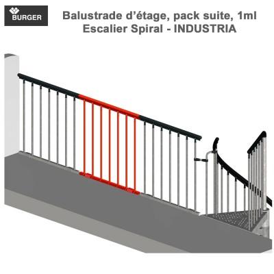 balustrade d'étage, pack suite, 1ml - Industria