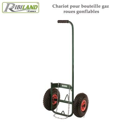 Chariot pour désherbeur roues gonflables