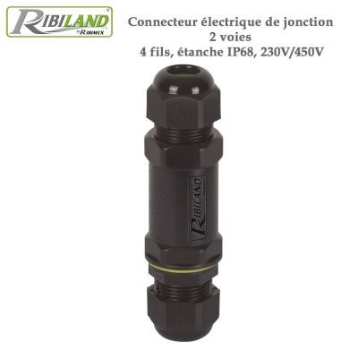 Connecteur électrique de jonction 2 voies